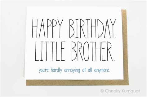 imagenes de happy birthday little brother funny birthday card birthday card for brother by cheekykumquat