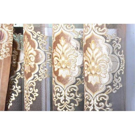 velvet damask curtains coffee damask jacquard and embroidery vintage velvet and