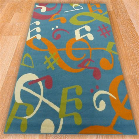 Blue Music Symbols Children S Rug Carpet Runners Uk Rug Song