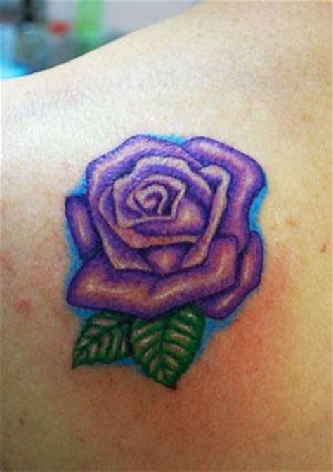 purple tattoo purple rose tattoos