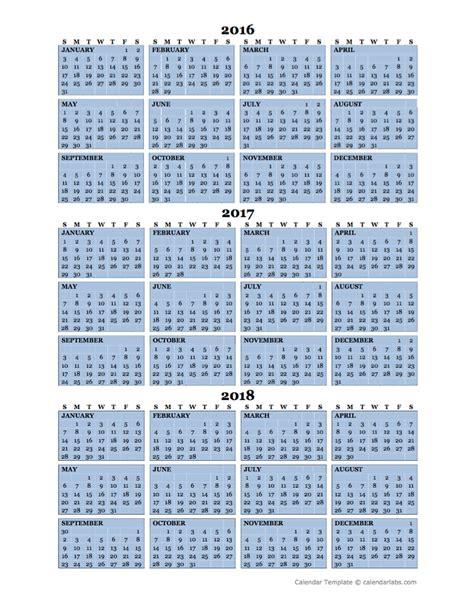 2018 annual calendar template printable yearly calendar template