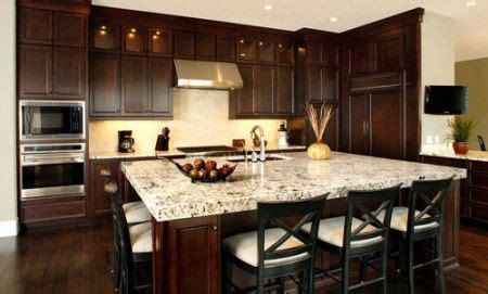 Kitchens With Dark Cabinets And Light Countertops by 20 Beautiful Dark Cabinets Light Countertops Design Ideas