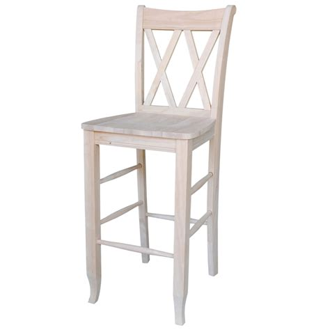 unfinished wood bar stools wholesale natural unfinished tek wood bar stool with double cross
