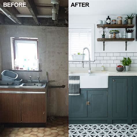 Self made cabinets kept costs down in this kitchen makeover