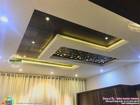 false ceiling in bedroom furnished master bedroom interior kerala home design and floor plans