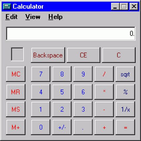 calculator exe number was the substance of all things
