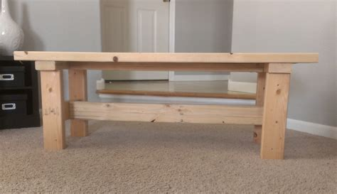 diy table bench contemporary family room decorated with wooden bench made