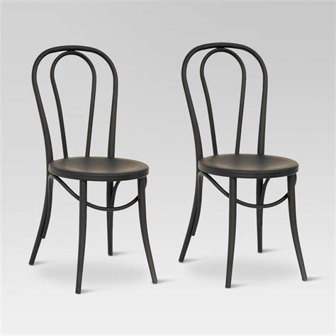 Metal Bistro Chairs Emery Metal Bistro Chair Set Of 2 Threshold Ebay