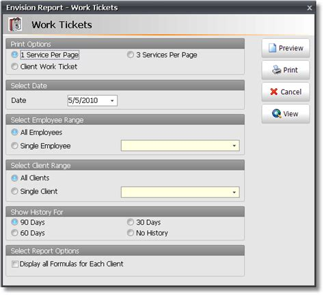 do printable tickets work printing options