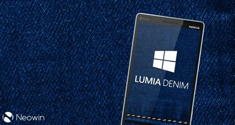 Microsoft Denim denim may be microsoft s last phone update until launch of windows 10 mobile neowin