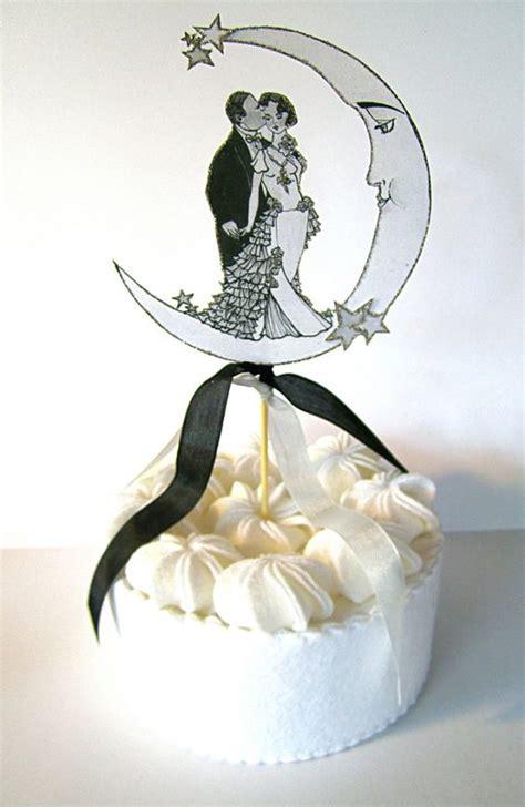deco wedding cake toppers deco wedding cake topper blissful by jolieenrosevintage 28 00 wedding 1920s
