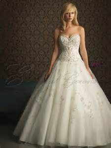 Ball gown tulle fitted bodice sweetheart wedding dress