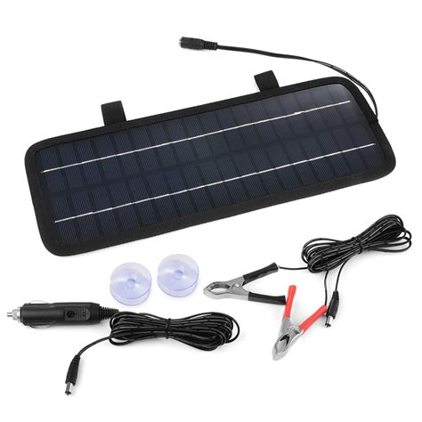 solar marine battery charger 4 5w 12v smart solar panal trickle power battery charger