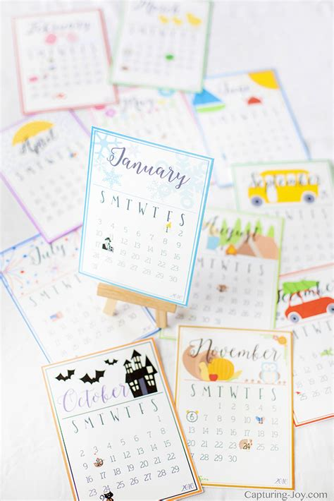 printable calendar gift 2017 desk calendar gift idea capturing joy with kristen duke