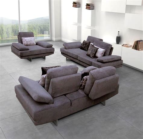Modern Living Room Sofa Sets Contemporary Fabric Living Room Sofa Set With Adjustable Back Greensboro Carolina Esf1174