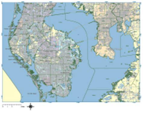zip code map st petersburg fl st petersburg digital vector maps download editable