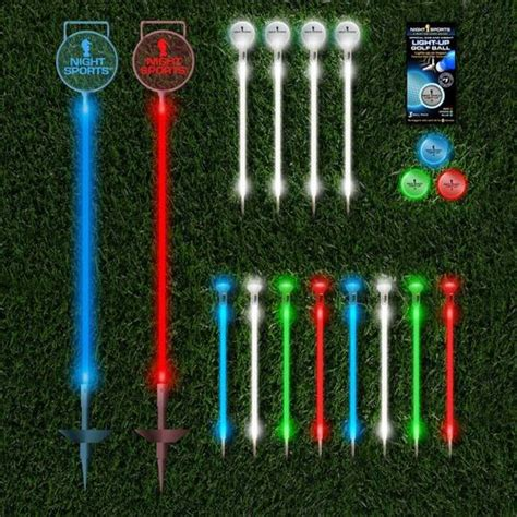 backyard golf set backyard led night golf pitch and putt set by night sports usa