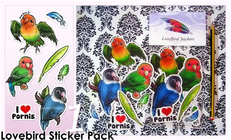 029 5 Wallpaper Sticker lovebird stickers pack 1 by bea gonzalez on deviantart