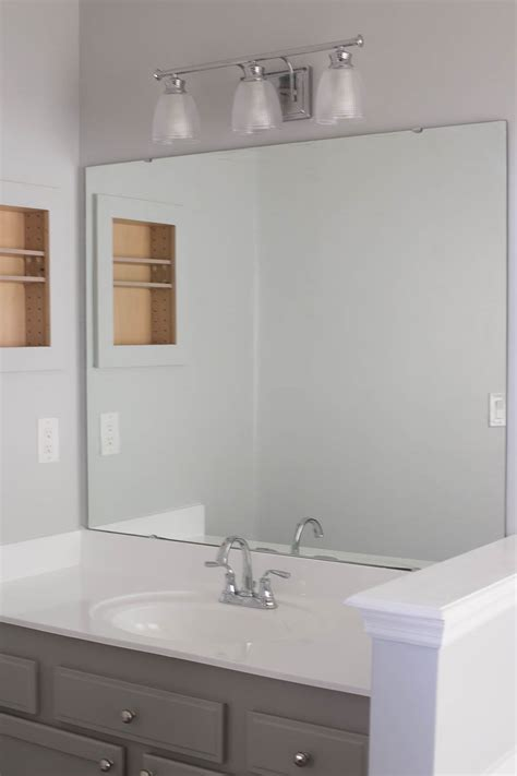 Bathroom Mirrors For Less How To Frame A Bathroom Mirror Easy Diy Project