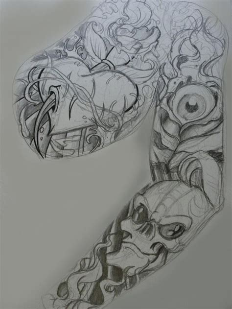 tattoo sleeve drawings 34 best sketches for arm images on