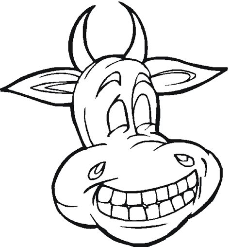 free coloring pages of cow face