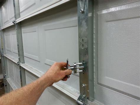 How To Install Garage Door Locks Dan S Garage Door Blog Garage Door Lock Installation