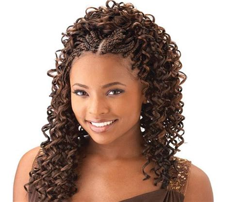 braid in front curl in back hair cornrow with curly weave curly braids for your hair