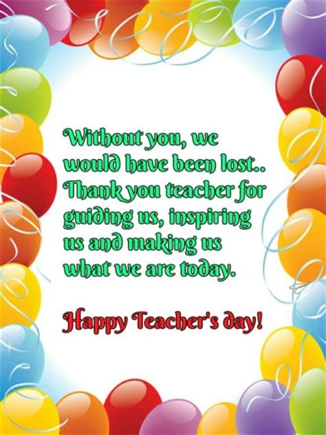Thank You Letter For Teachers Day Teachers Day Quotes 2018 Best Wishing Messages