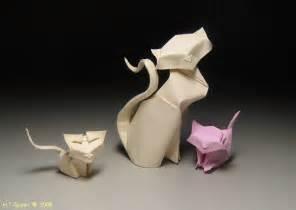 Paper Origami Cat - paper cat on