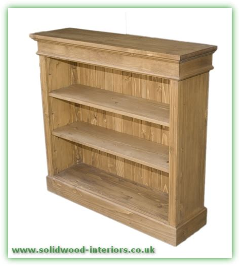 2 Wide Bookcase by Solid Wood Interiors Gt Pine Bookcase Small Wide 2