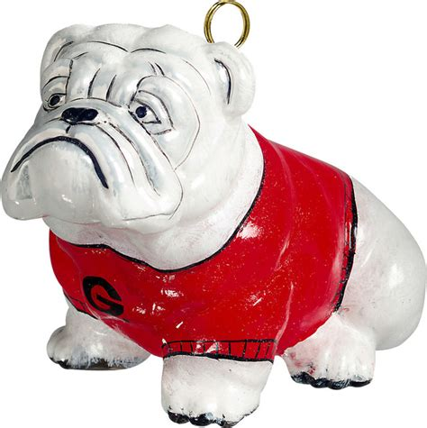 collegiate bulldog university of georgia ornament