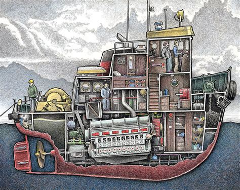 boat deck drawing peek below ship decks in illustrations inspired by my time