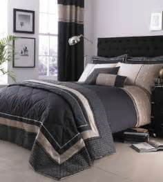 luxury geo duvet quilt cover set black single
