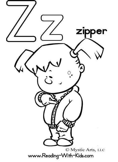 coloring pages zipper 1000 images about letters coloring on pinterest