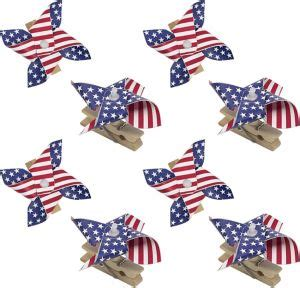 American Flag Patriotic Pinwheel Set Patriotic American Flag Pinwheel 8ct City