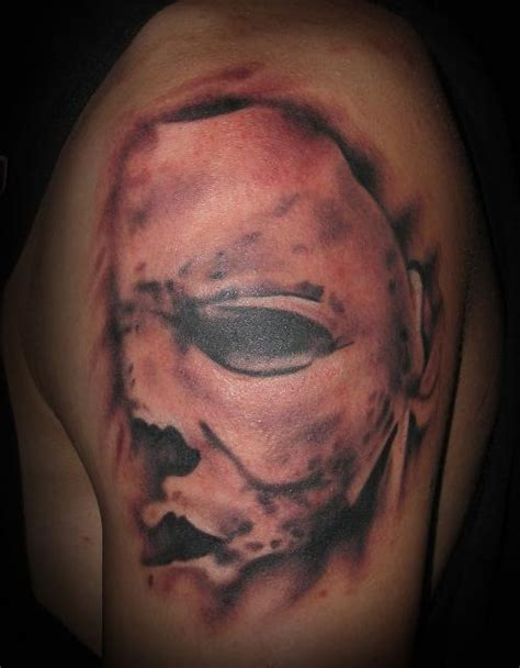 michael myers portrait from movie poster tattoo picture