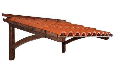 tettoia pensilina pensilina in legno coppi onda bellhouse