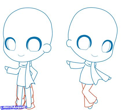 A Drawing Of A Person by How To Draw Chibi 7 How To Draw Chibis Drawings
