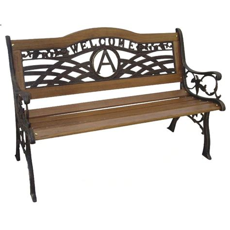 welcome bench dc america monogram welcome garden bench outdoor benches