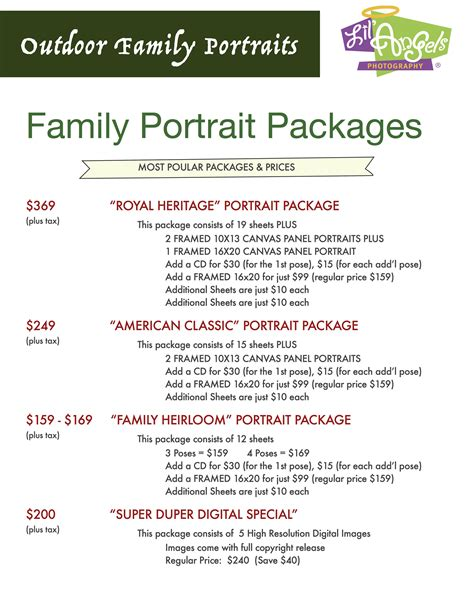 Family Package lil photography family portraits packages pricing