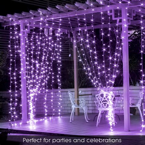led christmas icicle string net curtain lights outdoor