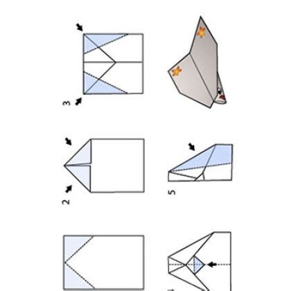origami glider plane printable paper airplane starfish glider 4th of july