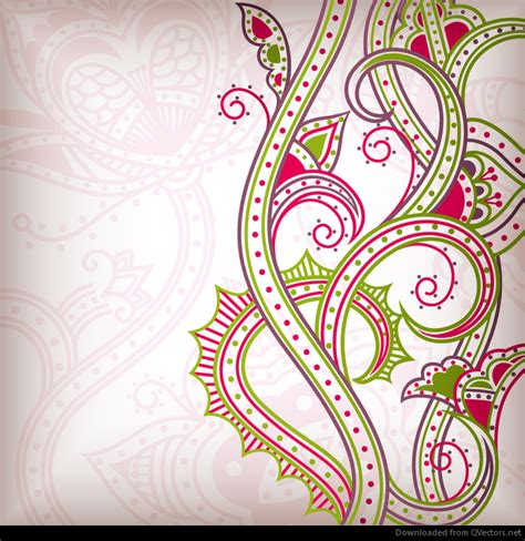 Abstrak Floral 1 abstract floral pattern background 02 vector vector