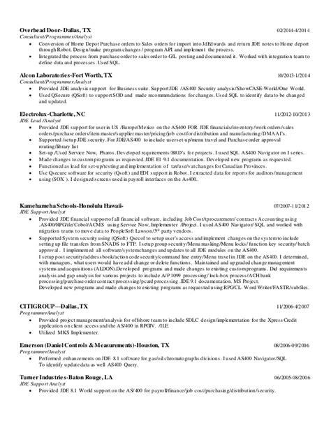 Jd Edwards Developer Sle Resume by Jd Edwards Developer Resume Persepolisthesis Web Fc2