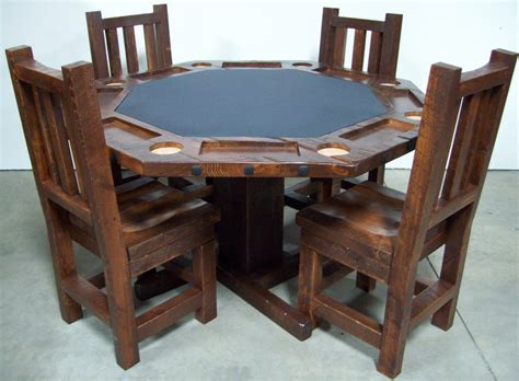 Wood poker table wood poker tables and chairs wood inlay poker table