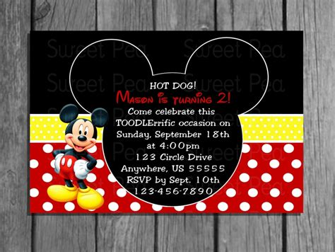 mickey mouse birthday invitations template mickey mouse birthday invitations birthday invitations