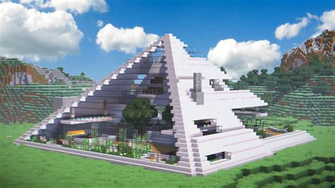 Summit (Creative Modern Pyramid House) Minecraft Project