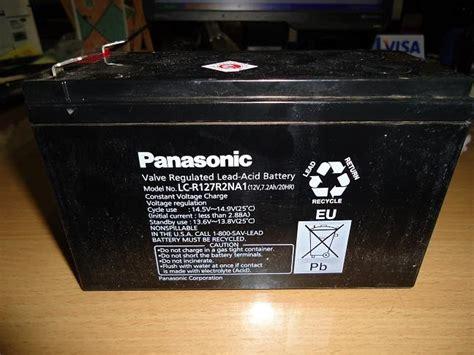 Baterai Kering Untuk Lu Emergency lariscom baterai kering baterai ups panasonic 12v 7 2