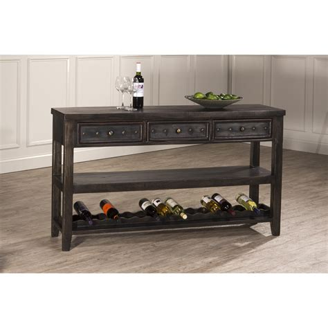 sofa table with wine storage black sofa table with wine rack infosofa co