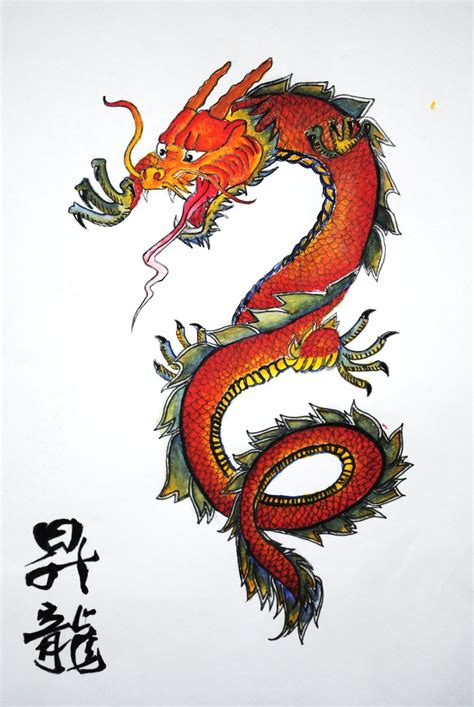Traditional Chinese Designs chinese dragon by sanctuaryy on deviantart